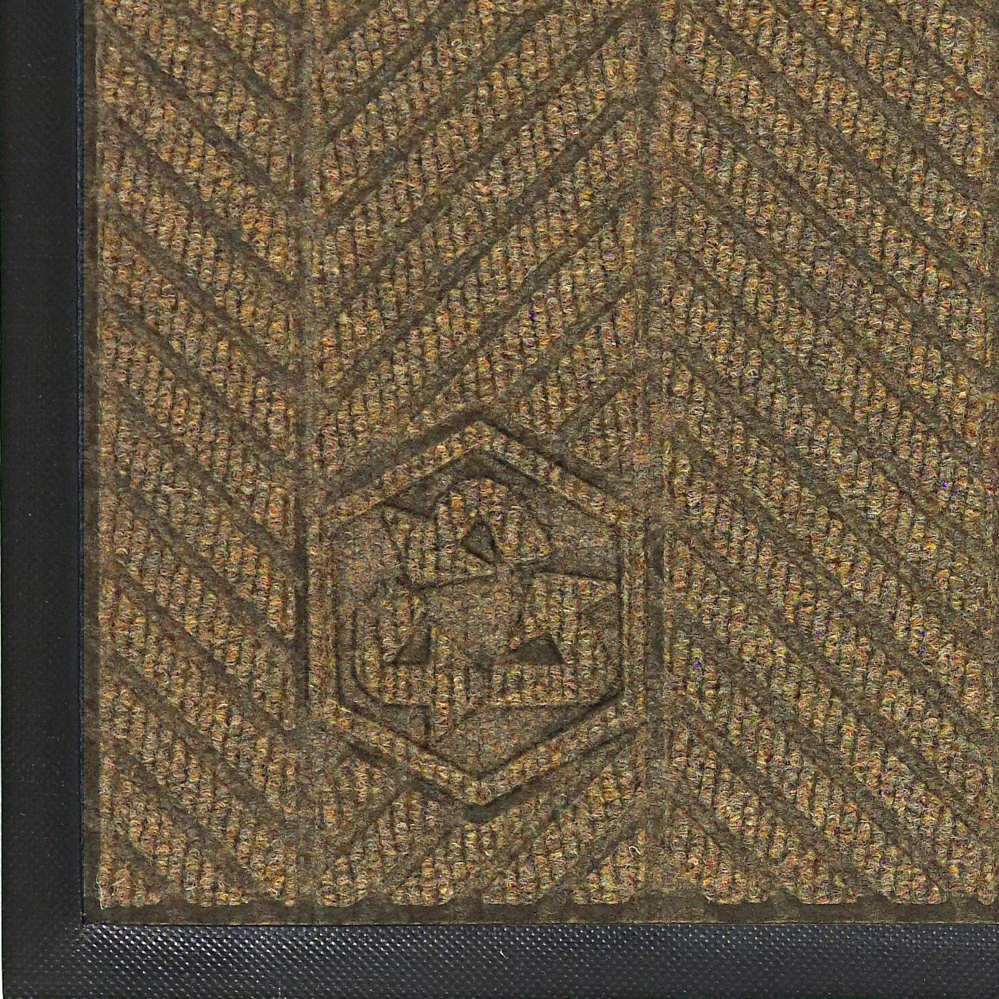 Andersen 2240 Waterhog Classic ECO Elite PET Polyester Entrance Indoor Floor Mat, SBR Rubber Backing, 6' Length x 4' Width, 3/8'' Thick, Khaki