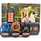 KoolKani Remote Dog Training Shock Collar & Underground/in-Ground Electronic Dog Containment Fence System Combo (Three Dog System)