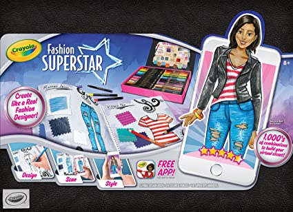 Imaginative Toys For Girls : Amazon.com: crayola fashion superstar coloring book and app toy