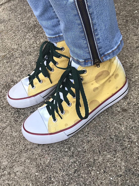29242b448680a Amazon.com: Wisconsin Cheese Chuck Taylor Shoe Cheesy Chucks: Handmade