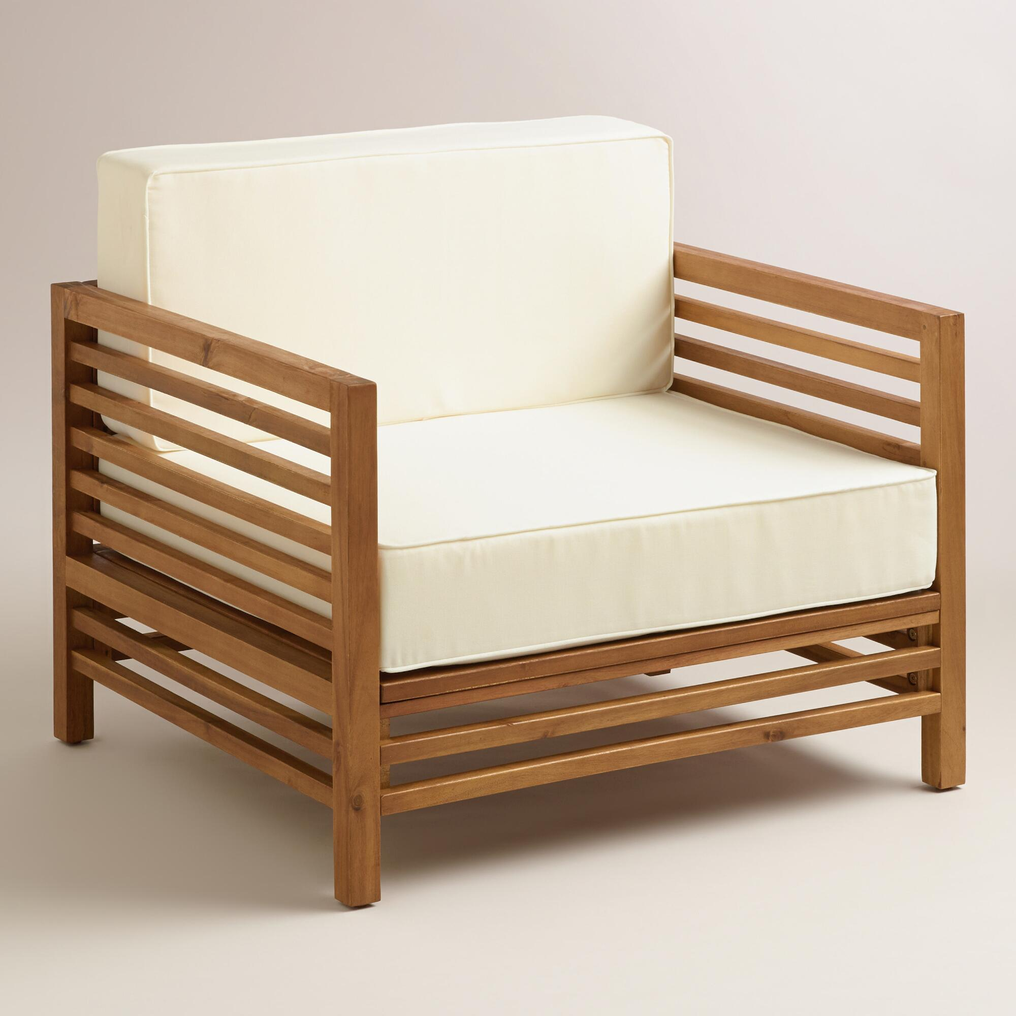 Wood Praiano Outdoor Occasional Chair | World Market