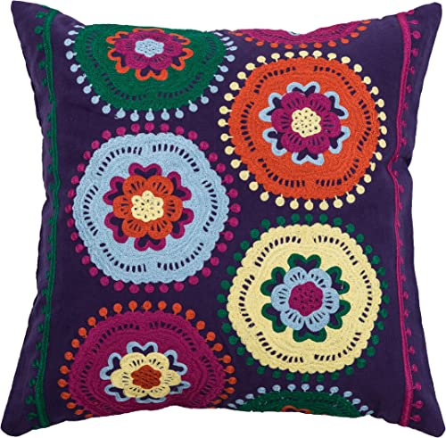 Rizzy Home T06885 Decorative Pillow, 18 X18 , Purple