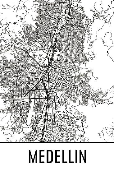 Amazoncom Medelln Print Medelln Art Medelln Map Medelln