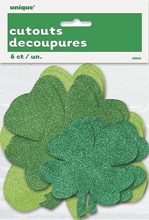 Amazon.com  Glitter Paper Cutout Shamrock St. Patrick s Day ... 0616b6e9be4b