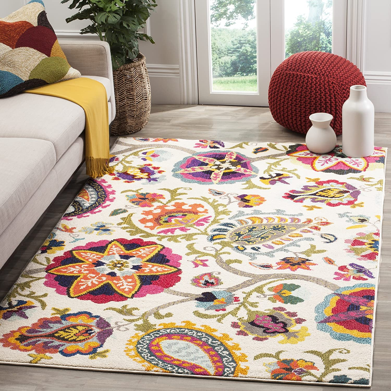 tapis design multicolore pas cher