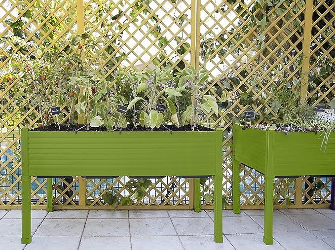 Huerto urbano GREENLAND 120x60x75 cm. Para terraza/jardín. Color ...