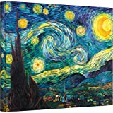 ArtWall Starry Night by Vincent Van Gogh Gallery Wrapped Canvas Art, 24 by 32-Inch