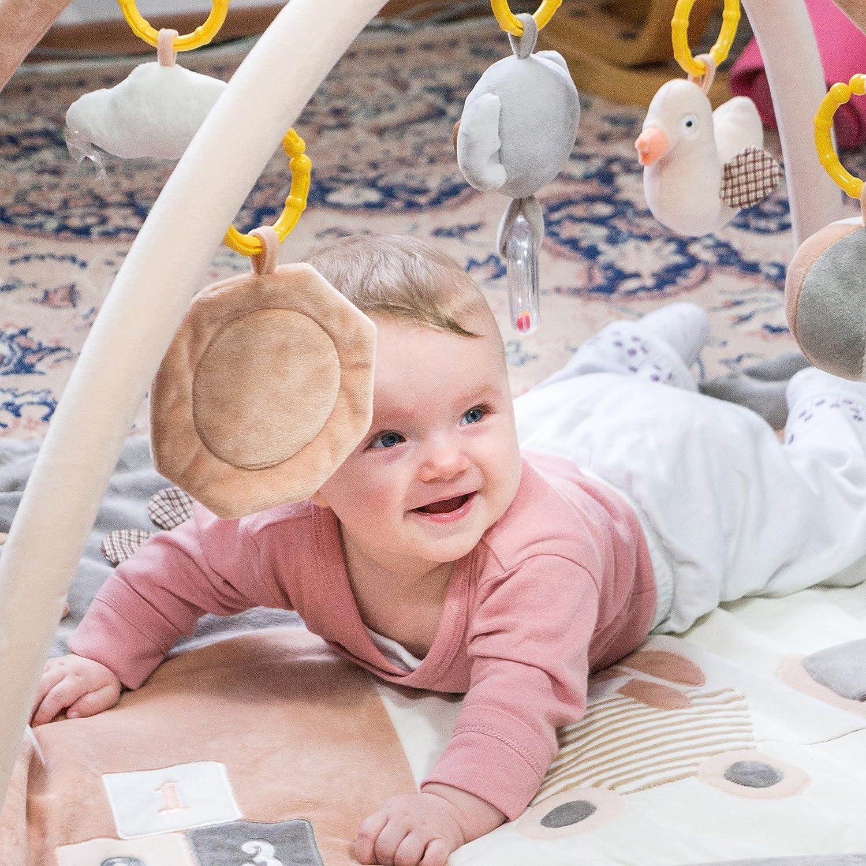 Couverture bébé naissance garcon 100% coton. Cosy & legere couverture pour enfants doux d'été 80 x 100 cm. Bébé couvertures pour enfants gris / blanc | Couverture de bébé douce unique de voyage et 110% garantie de remboursement. Organic baby blanket De