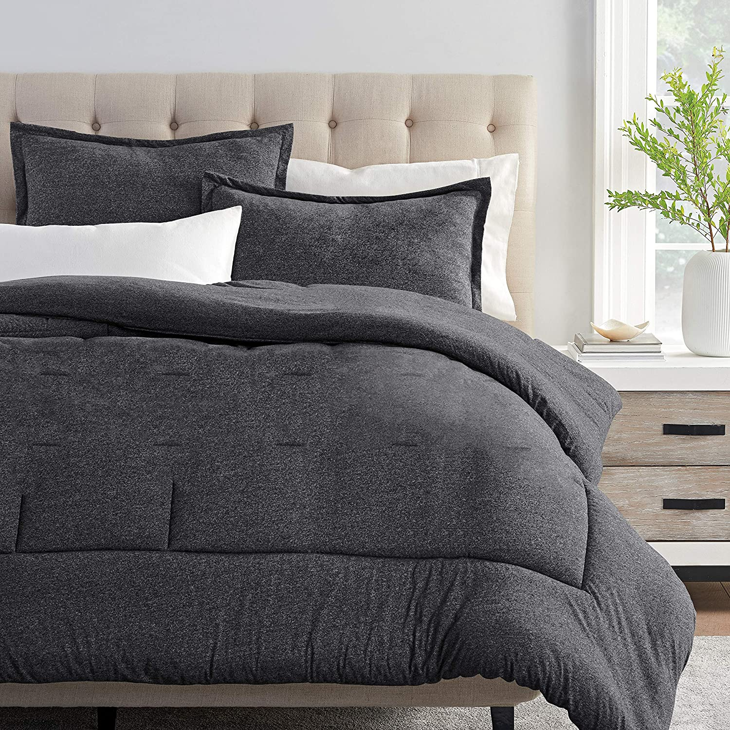 Columbia Cooling Soft Comfort 3 Piece Bedding Set | Value Bundle Includes 1 Comforter & 2 Standard Pillow Shams | Temperature Regulating | Omni-Wick, Moisture Wicking Technology | Full/Queen - Gray