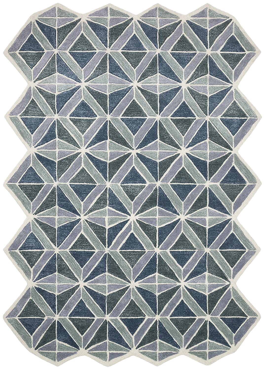 """Now House by Jonathan Adler Facet Collection Area Rug, 2'3"""" X 7'2"""", Blue"""