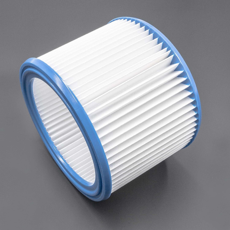vhbw Rund-Filter Falten-Filter fü r Staubsauger, Saugroboter, Mehrzwecksauger Bosch Gas 1200, Gas 15 L, Gas 20 L SFC