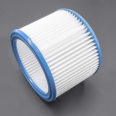 vhbw Filtro redondo, filtro plisado para aspiradoras, robot aspiradora, aspirador multiusos Nilfisk/
