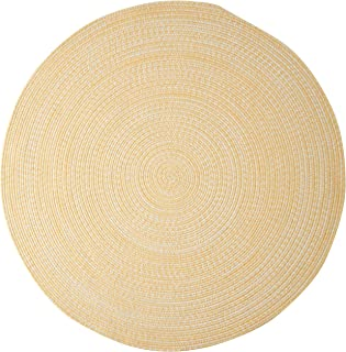 product image for Colonial Mills Kaari Tweed Round Indoor/Outdoor Braided Area Rug, 9' x 9', Sunflower