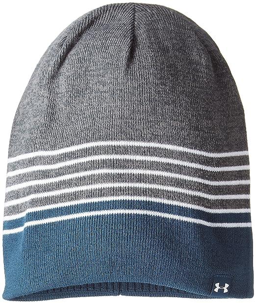 1653450003b0aa Amazon.com: Under Armour Mens Logo Reversible Beanie Hat Gray O/S ...