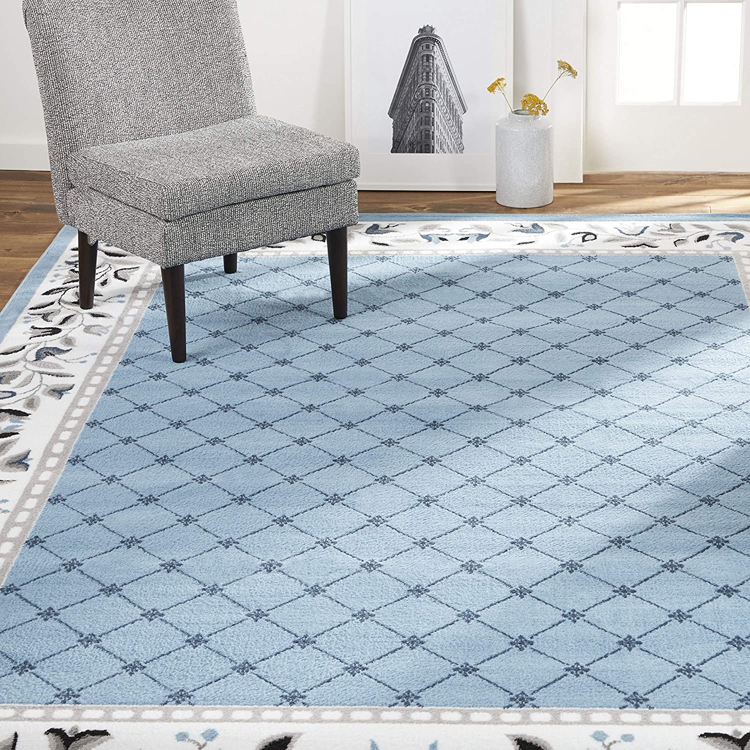 "Home Dynamix Lyndhurst Sheraton Area Rug, 21""x35"" Rectangle, Light Blue"
