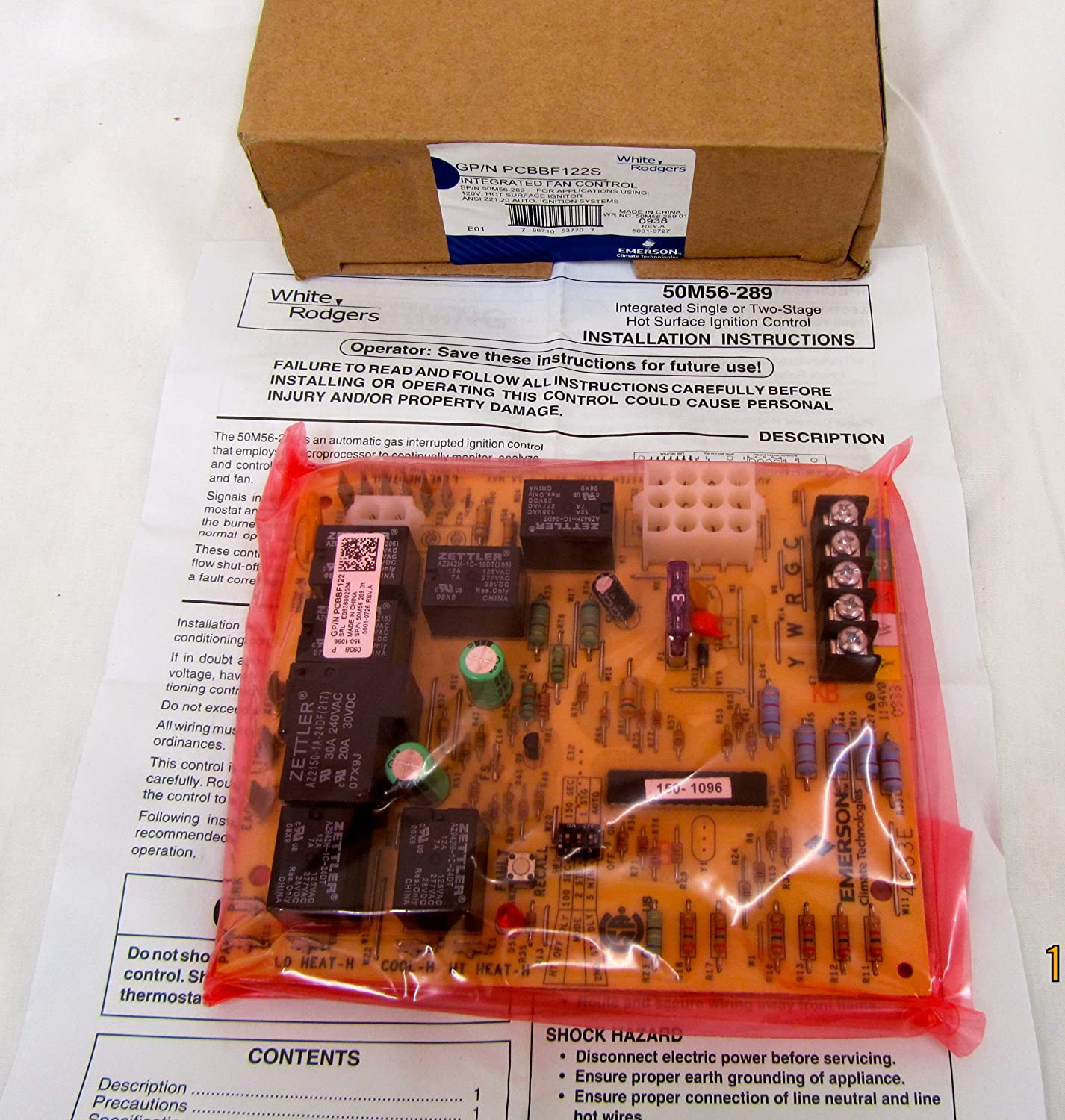 White Rodgers Pcbbf122s Integrated Fan Control Board Replacement Circuit Household Furnace Boards