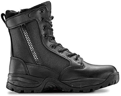 Maelstrom Tac Force 8'' Women's Black Waterproof Boots With Zipper – Military, Work & Tactical Boots – Athletic, Breathable, Durable, Comfortable & Lightweight Boots For Women, Size 6M