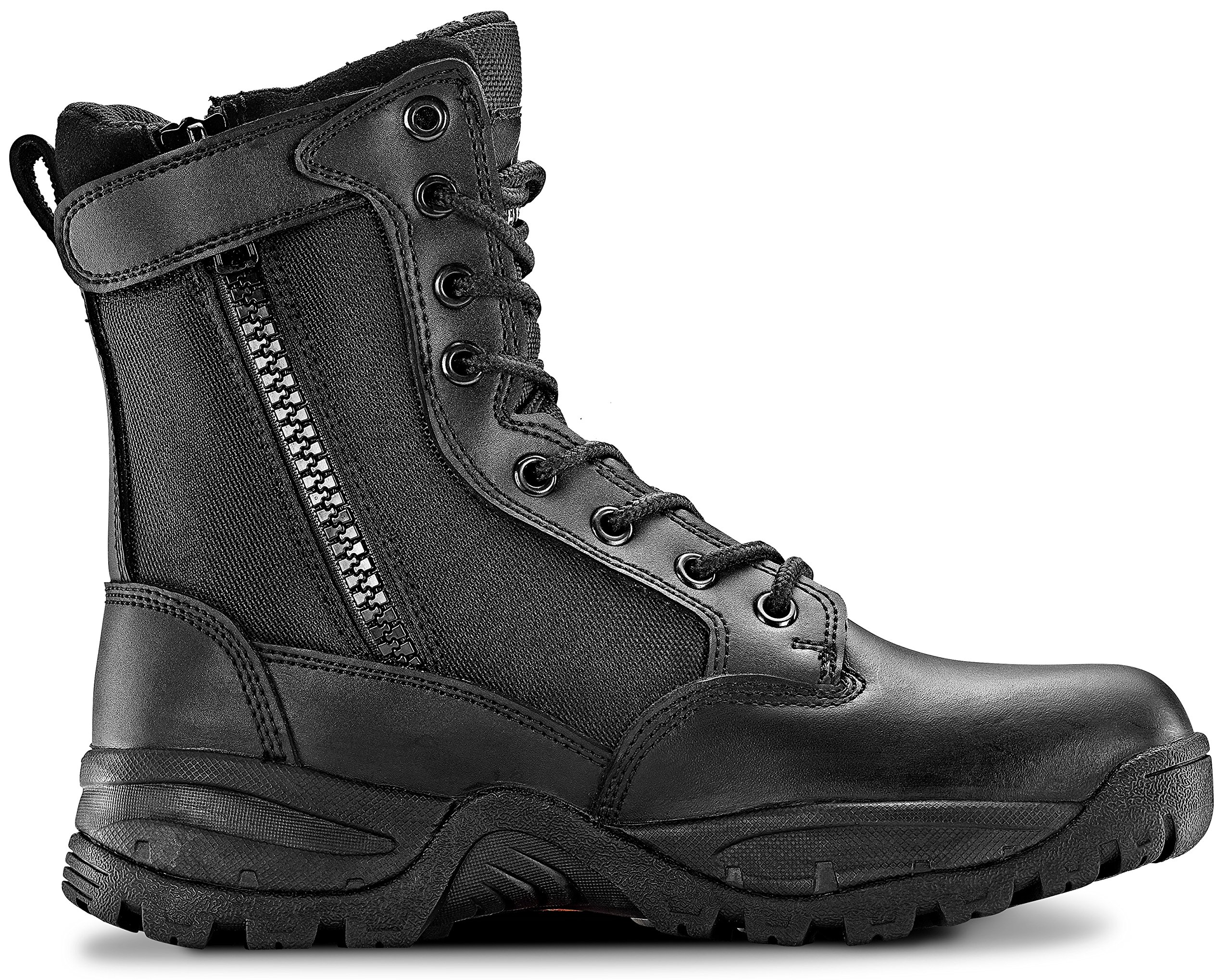 Maelstrom TAC Force 8'' Women's Black Waterproof Boots Zipper – Military, Work & Tactical Boots – Athletic, Breathable, Durable, Comfortable & Lightweight Boots Women, Size 7M
