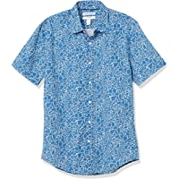 Amazon Essentials Slim-fit Short-Sleeve Casual Poplin Shirt Button-Down-Shirts Hombre