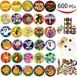 Joyin Toy 600 Pieces Assorted Halloween Stickers; Halloween Scrapbook Stickers Self Adhesive Shapes for Halloween Craft Supplies, Classrooms Prizes, Halloween Novelty and Jack O Lantern Stickers