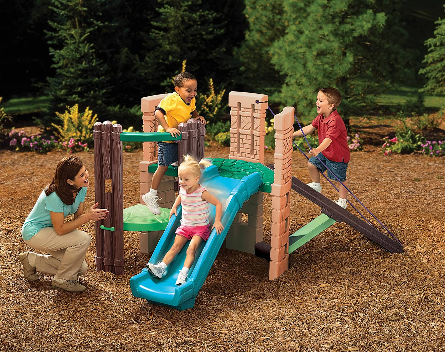 Amazon.com: Little Tikes 2-In-1 Castle Climber: Toys & Games