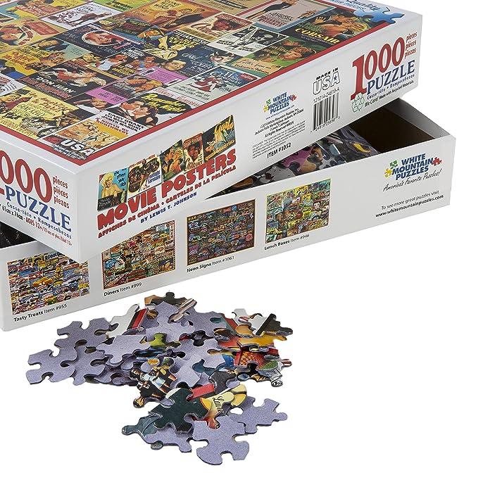 Amazon.com: White Mountain Puzzles - Classic Movie Posters - 1,000 ...
