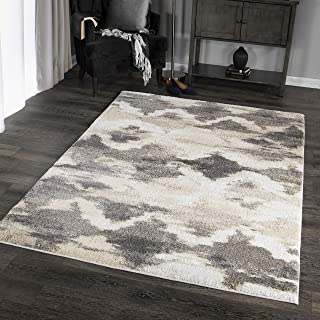 "product image for Orian Rugs Super Shag Collection 392715 Harlequin Area Rug, 7'10"" x 10'10"", Beige"