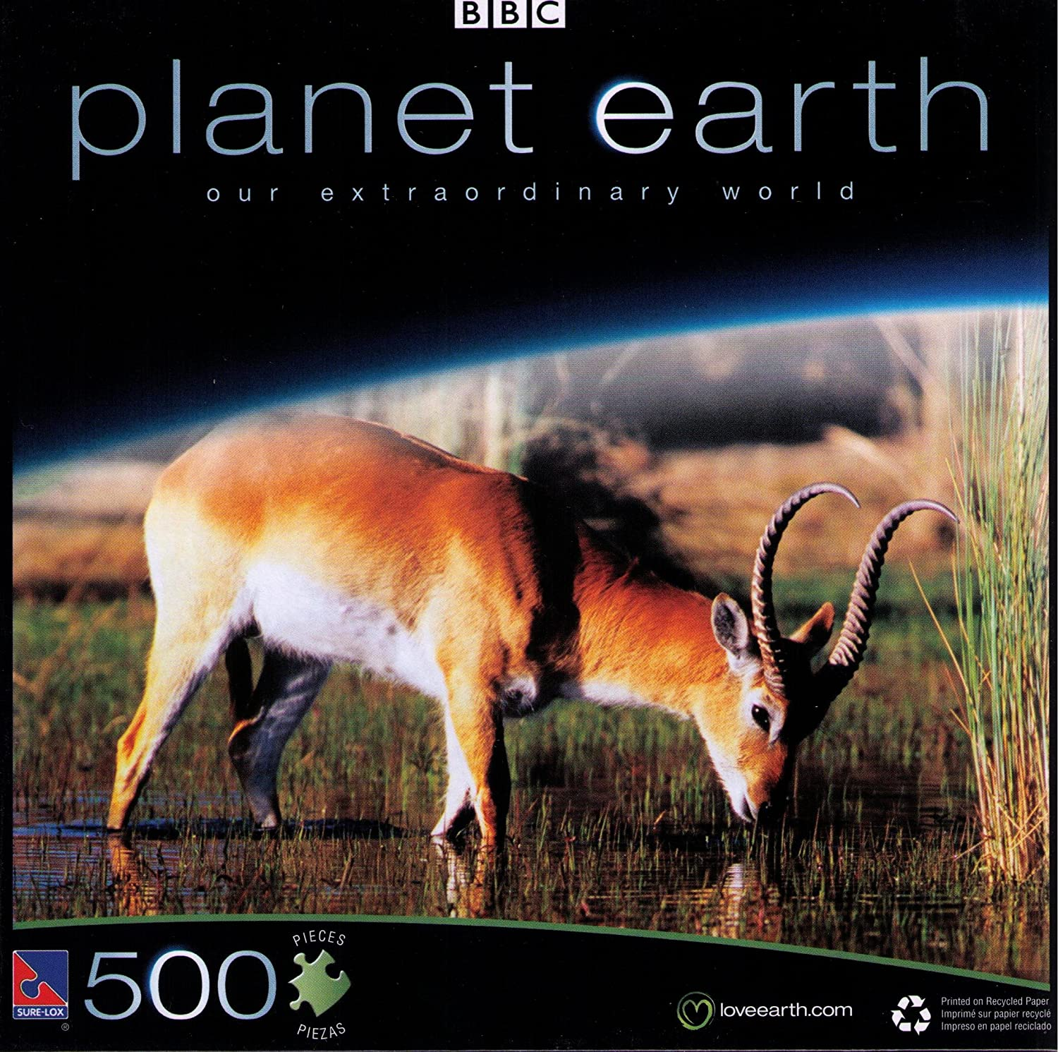 Planet Earth BBC 500 Pc. Puzzle - Lechwe ROT Lechwe - 710f67