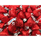 Hershey's Kisses, Milk Chocolate in Red Foil (Pack of 2 Pound)