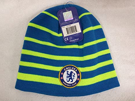 Amazon.com  Chelsea Fc Winter Fitted Skully Cap Beanie Hat New with ... 459add16619