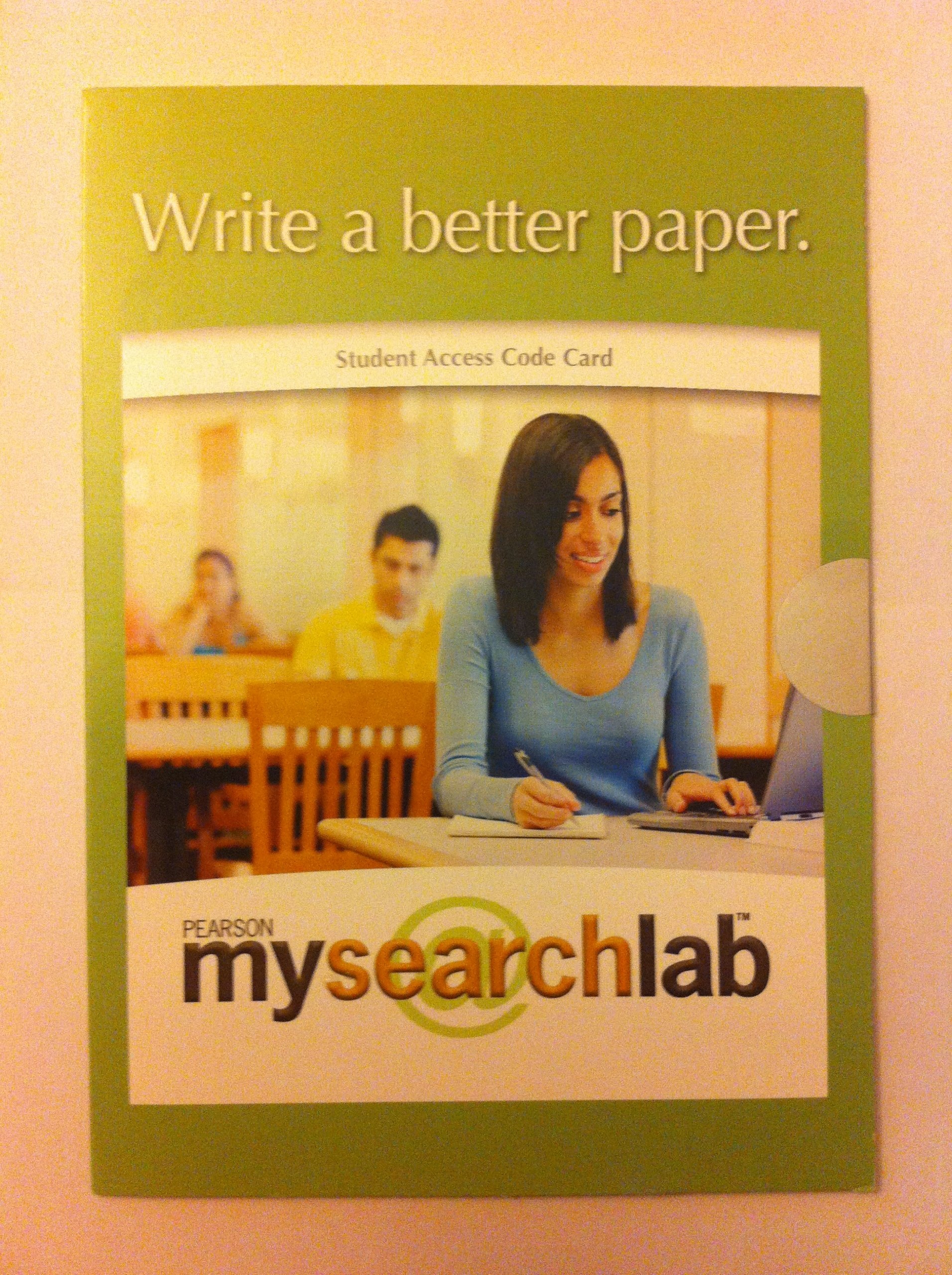 Download Pearson My Search Lab Student Access Code Card PDF