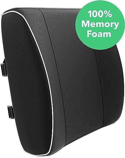 amazon com vremi premium memory foam lumbar support pillow chair