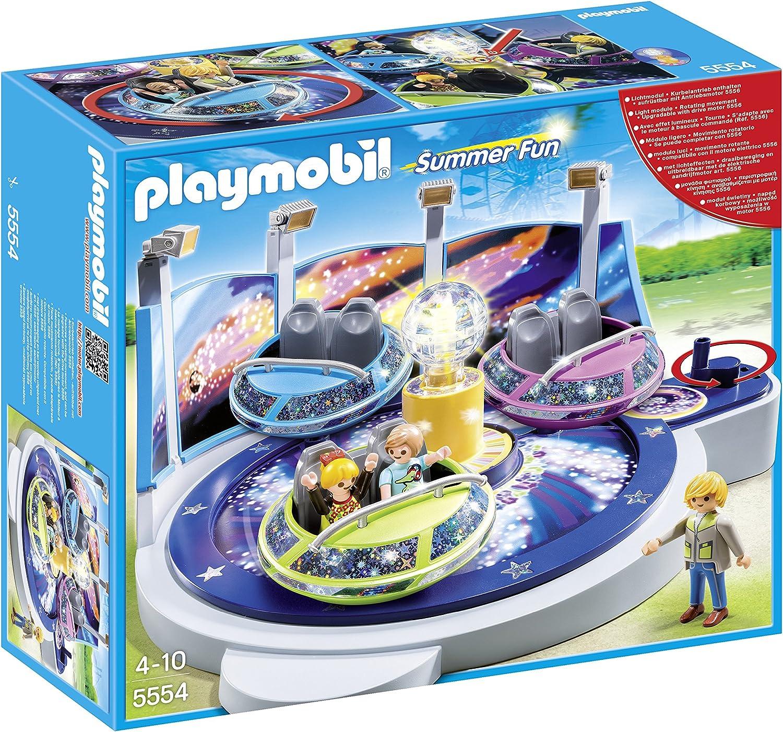 PLAYMOBIL Parque de Atracciones - Atracción de Naves giratorias con Luces, playset (5554)