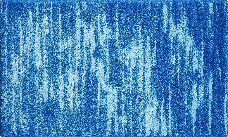 Grund Badteppich 100% Polyacryl, ultra soft, rutschfest, ÖKO-TEX-zertifiziert, 5 Jahre Garantie, FANCY, Badematte 70x120 cm, blau