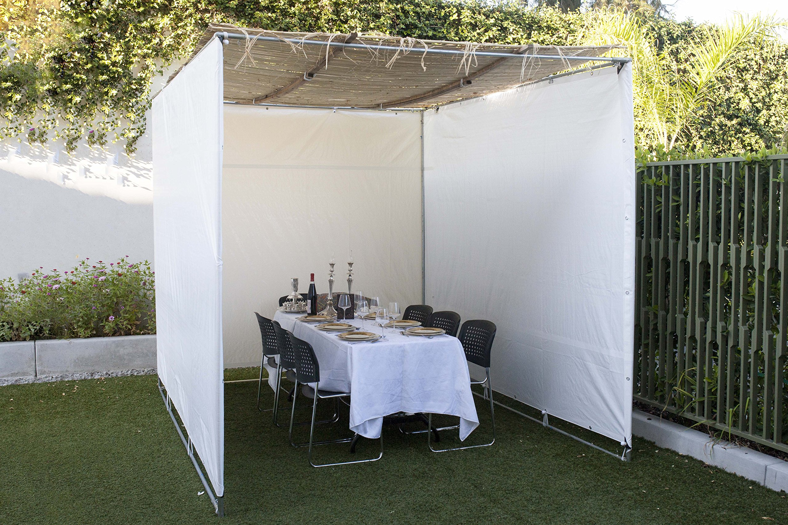 TheSukkahSpot - Easy to Build Sukkah Succah Sukah - Certified Kosher - (8X10) by TheSukkahSpot