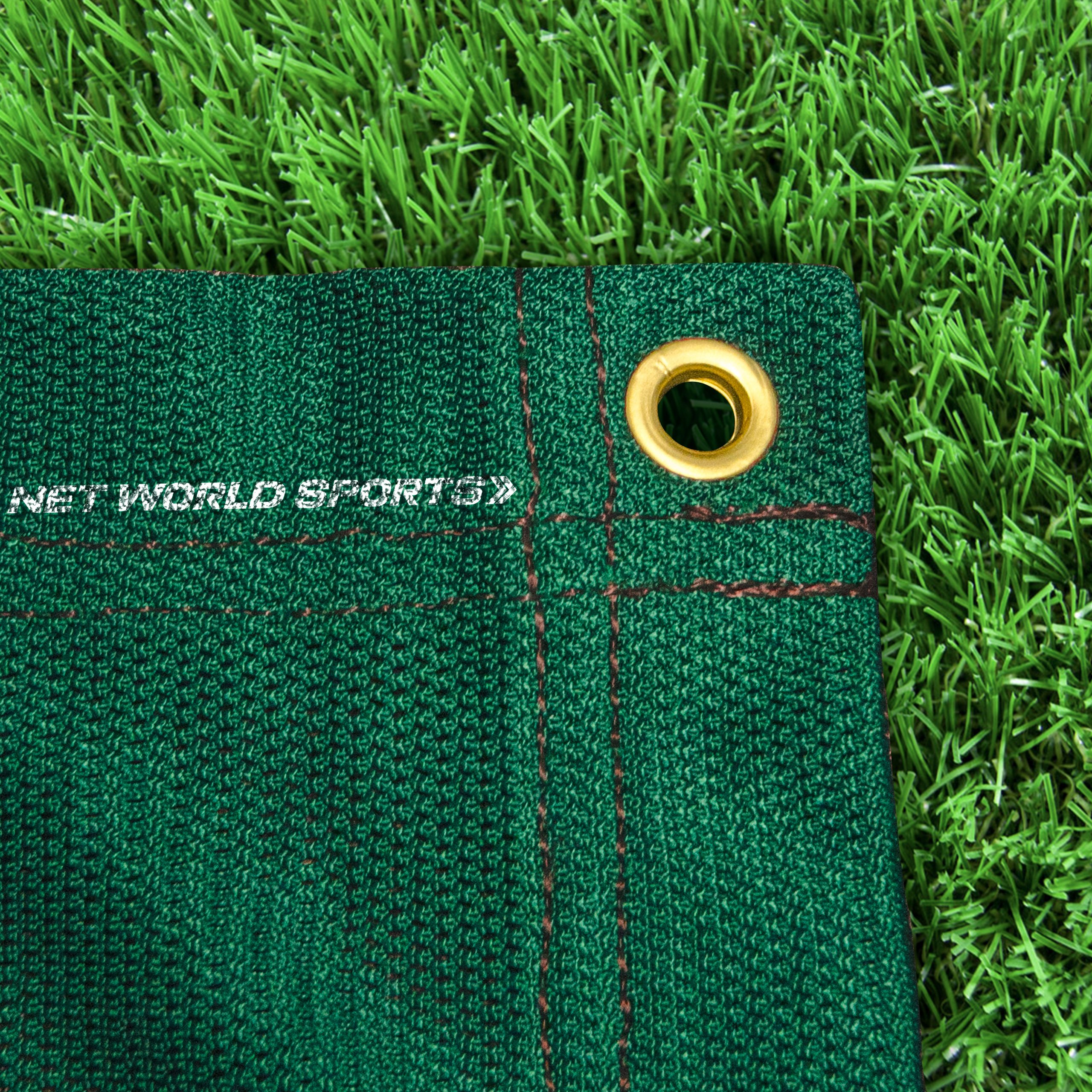 Replacement 10ft X 10ft Archery Grade Golf Impact Panel Netting (Green) – Super Strong Nets Guaranteed To Protect Your Golf Practice Cage From Damage [Net World Sports] by Net World Sports (Image #1)