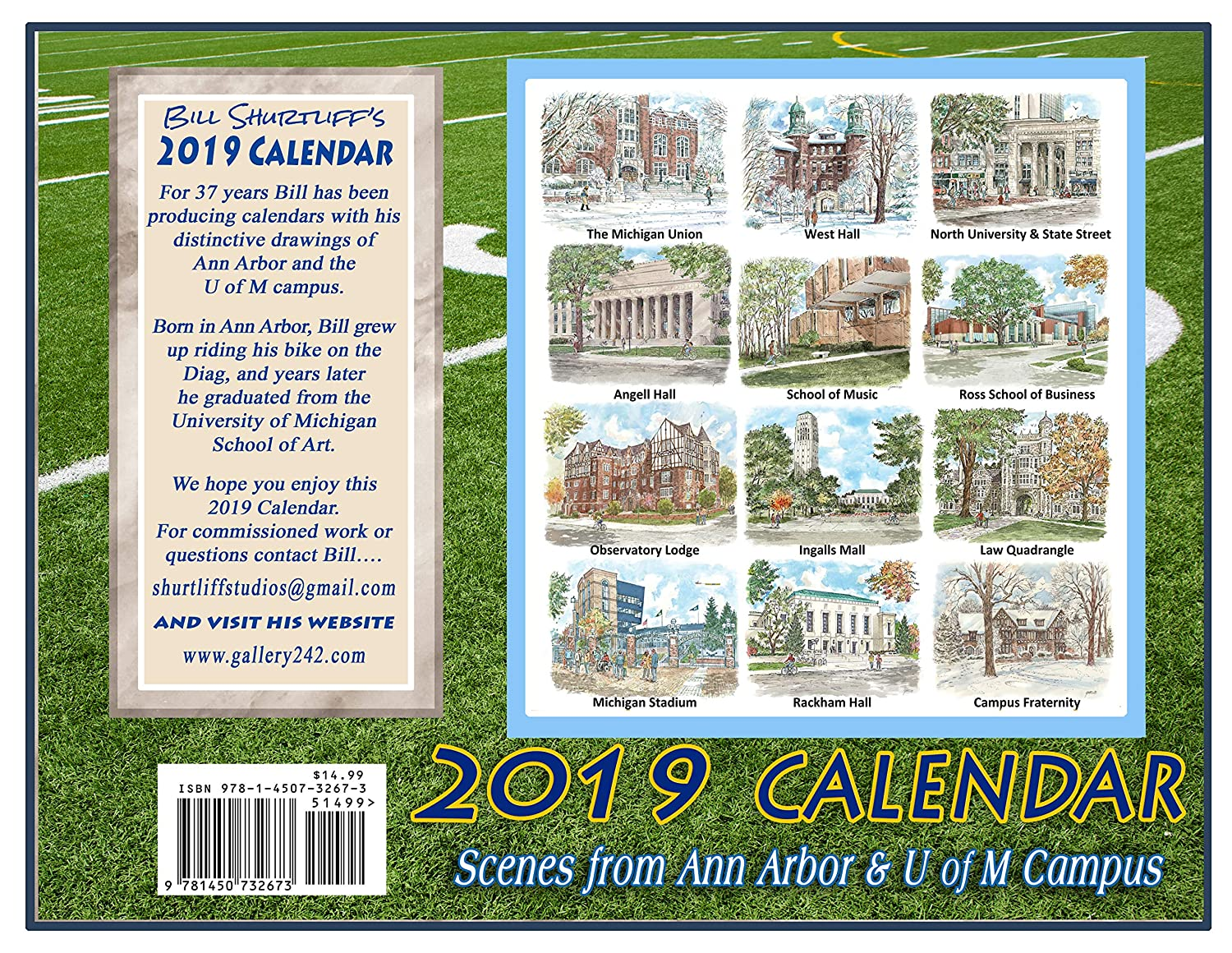 U Of M Calendar 2019 Amazon.: University of Michigan 2019 Calendar : Office Products