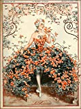 1925 La Vie Parisienne La Roseraie Beautiful Woman and Flowers French Nouveau from a Magazine France Travel Advertisement Picture Art Poster Print. Poster meausres 10 x 13.5 inches