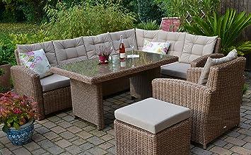Rattan lounge set  Amazon.de: Bomey Rattan Lounge Set I Gartenmöbel Set Manhattan 4 ...
