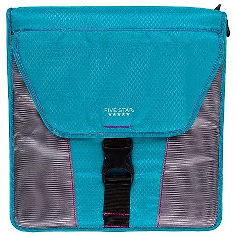 amazon com five star vertical flip zipper binder 2 inch 3 round