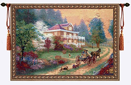 Beautiful Sunday Fine Tapestry Jacquard Woven Wall Hanging Art Decor
