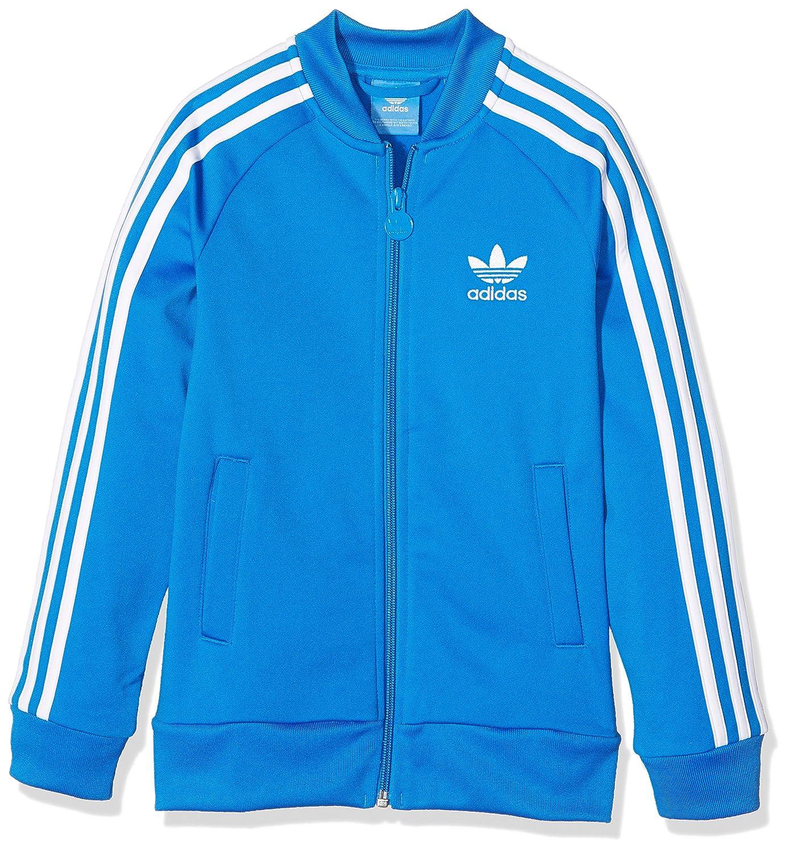 adidas Boys' Superstar Jacket Bluebird/White 128 ADIEY|#adidas S96110