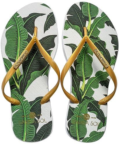 b083ed3ac9762c Samba Sol Women s Fashion Collection Flip Flops - Banana Leaf Gold