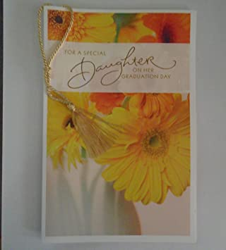 Amazon graduation card for daughter for a special daughter on graduation card for daughter for a special daughter on her graduation day by american m4hsunfo