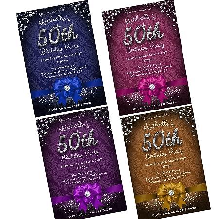 50th Birthday Party Invitations Envelopes