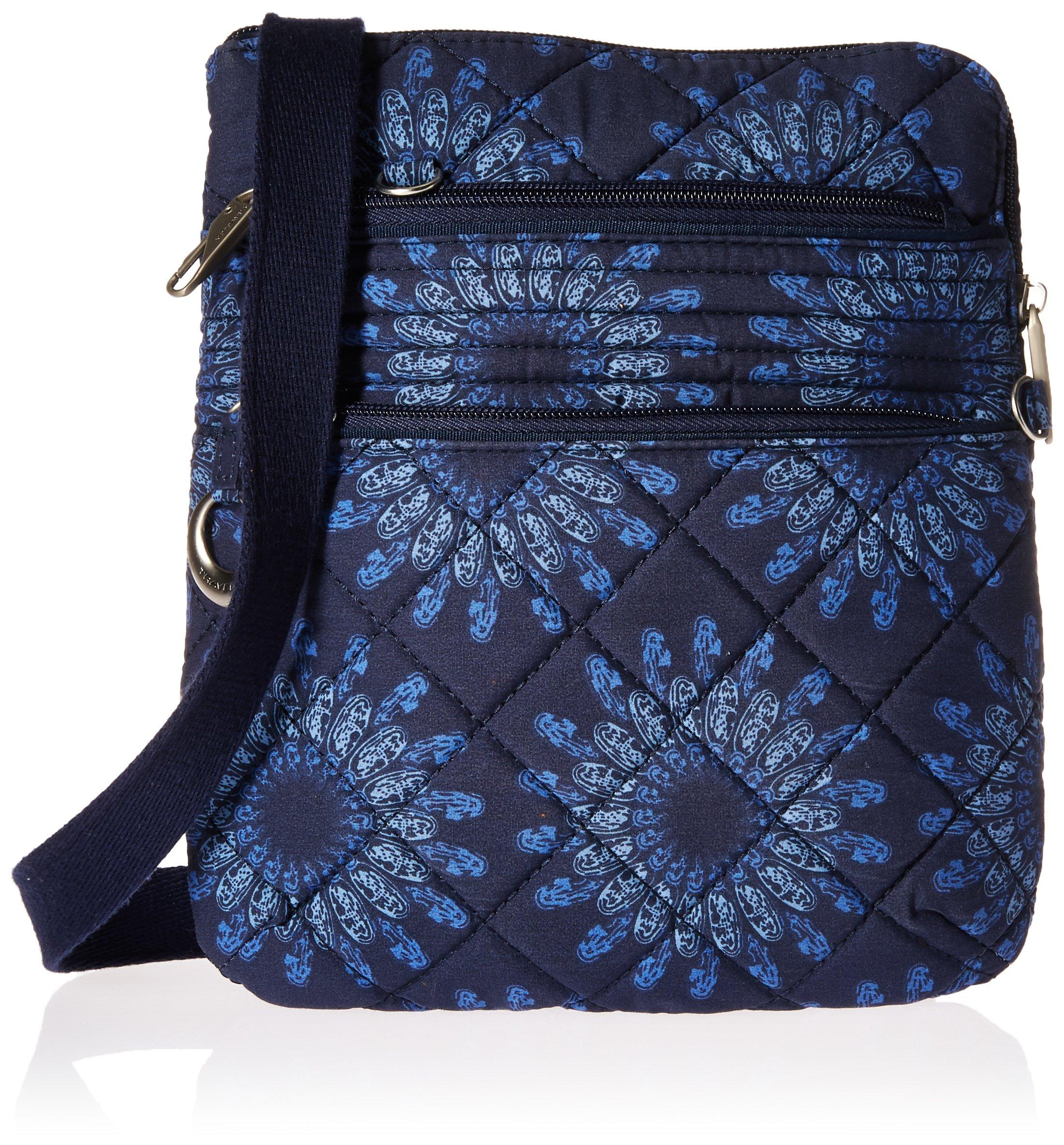 Travelon Women's Anti-theft Boho Slim Bag, Geo Sunflower