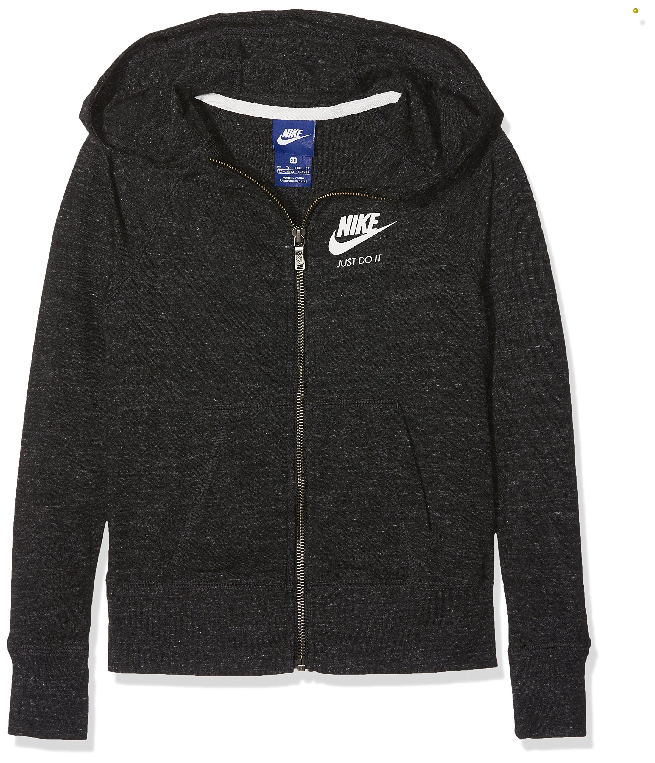 Nike Sportswear Vintage Older Kids' (Girls') Hoodie (Black, L)