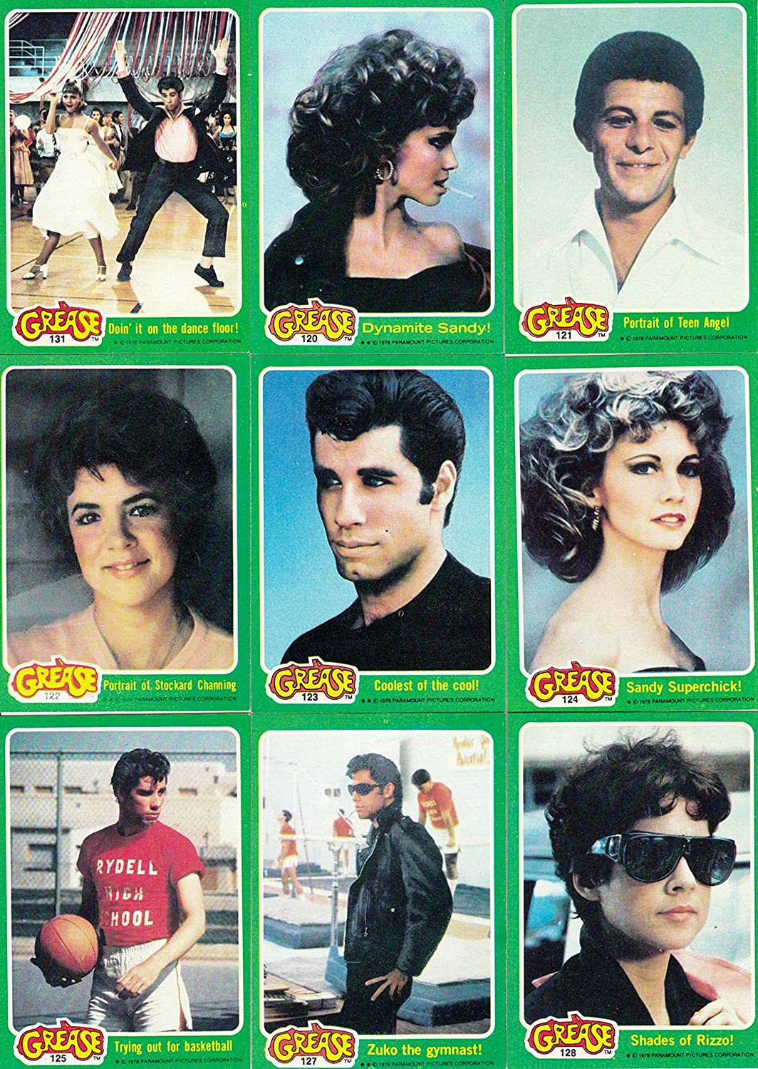 GREASE MOVIE SERIES 2 1978 TOPPS COMPLETE BASE CARD SET OF 66 STICKERS NOT INCLUDED