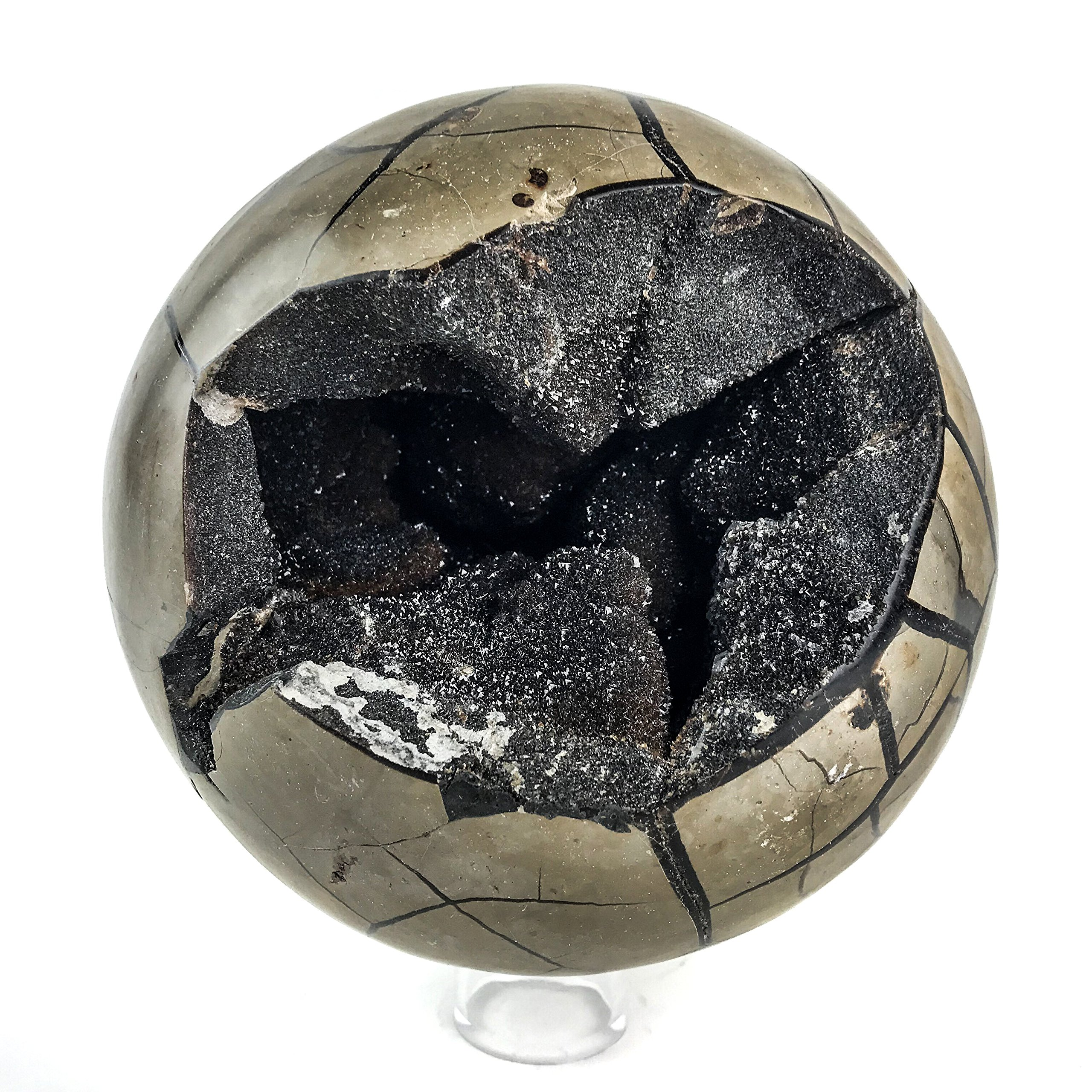 Astro Gallery Of Gems Polished Septarian Sphere from Madagascar (15 pounds)
