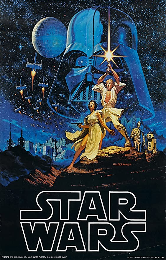 Amazon Com Star Wars Episode Iv A New Hope 1977 Movie Poster 24 X36 Posters Prints
